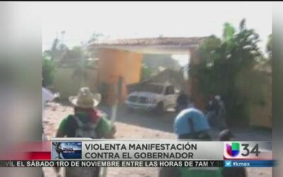 Arremeten contra casa de gobernador en Guerrero