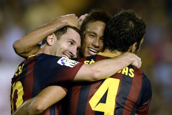 No dejaron fuera del festejo a Neymar, quien fue parte de la creación de...
