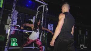 Natalíz pasó un día con los atletas del Cirque du Soleil