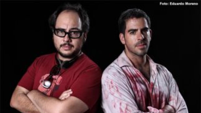 El director, guionista y productor Nicolás López y el actor Eli Roth.