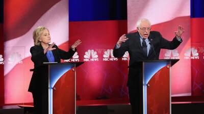 Hillary Clinton y BernieSanders