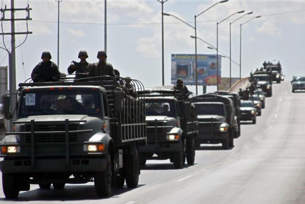 En diciembre del 2006 se lanzó una ofensiva militarizada contra el crime...