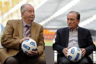 El fallecido presidente de la AFA, Julio Grondona, y el entonces vicepre...