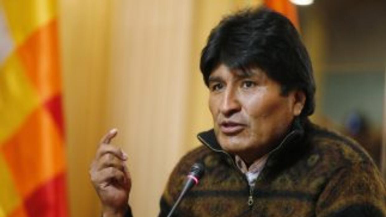 El presidente de Bolivia,Evo Morales.