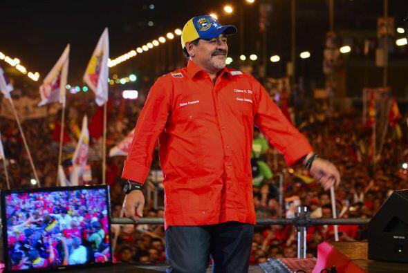 Maduro había anticipado la presencia de Maradona, a quien describ...
