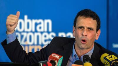 El excandidato presidencial Henrique Capriles