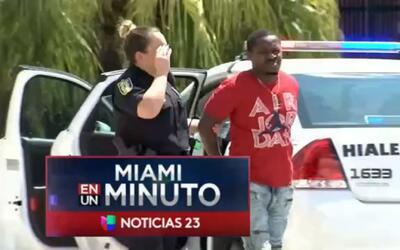 'Miami En un minuto': fueron capturados dos de los tres hombres que gene...