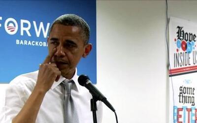 Barack Obama  El presidente Barack Obama lloró ante su equipo de campaña...