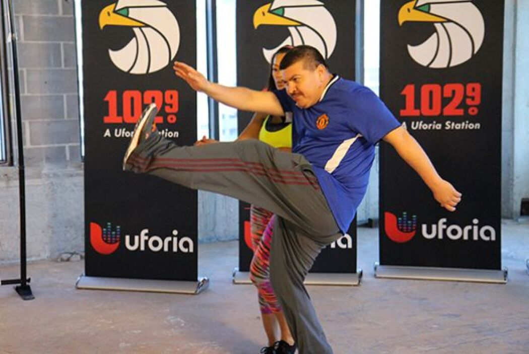 Al final del programa practicamos una rutina de ejercicio y Don Pedrito...