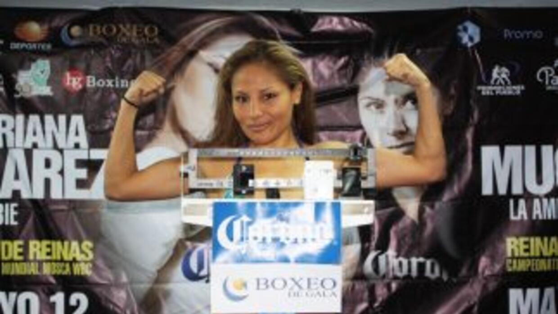 Mariana Juárez cumplió con el prepesaje que exige el CMB (Foto: Facebook).