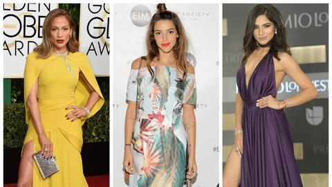 La cantante Jennifer Lopez, la actriz argentina Calu Rivero y la present...
