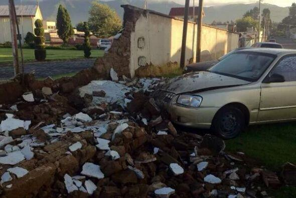 El sismo derrumbó algunos muros en la ciudad de Quetzaltenango, e...
