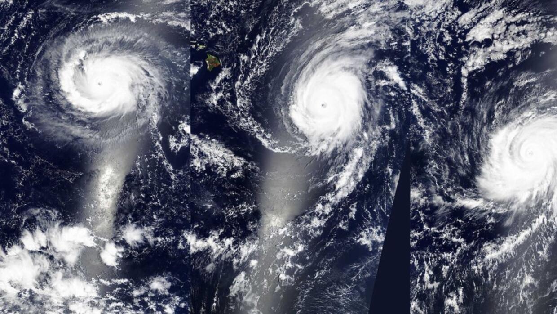 Imagen de la Nasa de los tres huracanes del pasado 31 de agosto.