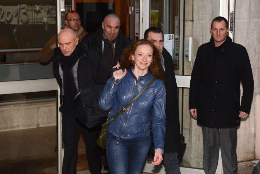 La francesa Florence Cassez, que volvió este jueves a su país tras pasar...