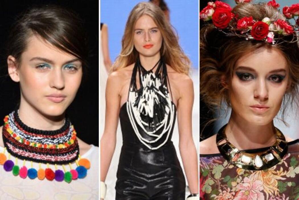 Los 'statement necklaces' o collares XXL vienen con un estilo muy marcad...