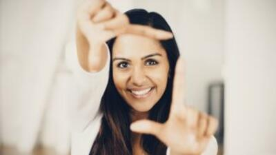 If you feel like someone is looking at you, smile back, -this trick is t...