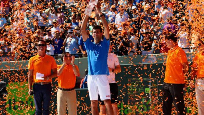 Con su nueva corona en Miami, Djokovic quedó a una del estadounidense An...
