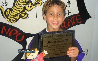 Un campeoncito de 9 años de Ultimate Fighting