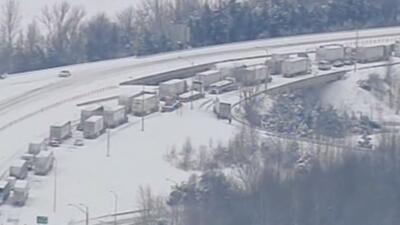 Enorme congestionamiento vial en Kentucky