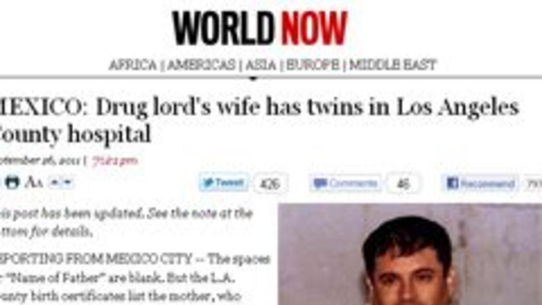 """El periódico Los Angeles Times reveló la historia de Joaquín, """"El Chapo""""..."""