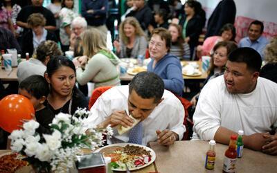 Cuando comió taquitos en Luis's Taqueria, en Oregon.