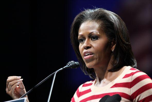 La primera dama de Estados Unidos, Michelle Obama, fue ubicada en el oct...