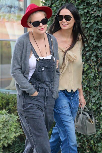 Y si le agregamos que Demi aún luce muy bella, pues sí, cualquiera las c...