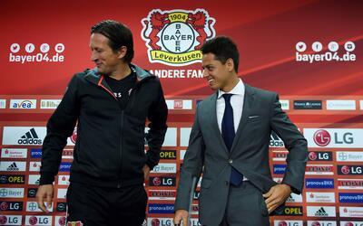 Chicharito ha tenido una gran temporada con el Bayer Leverkusen.