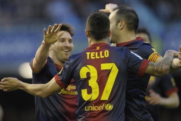 Tello le devolvió la asitencia a Messi con un pase lateral que re...