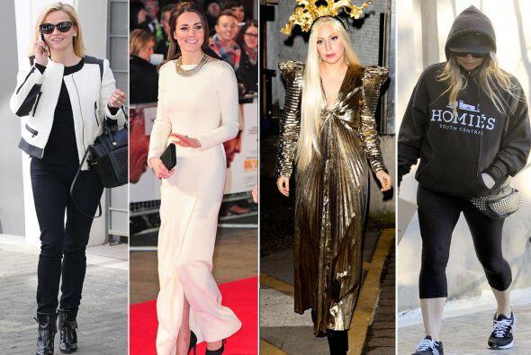 Algunas celebridades siguen acertando con sus 'outfits' invernales, mien...