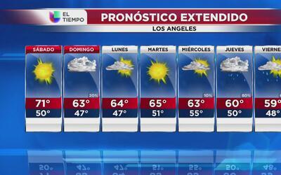 Se aproximan lluvias a Los Ángeles desde este domingo 15 de enero