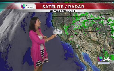 Sube la temperatura en California y continúa la nubosidad