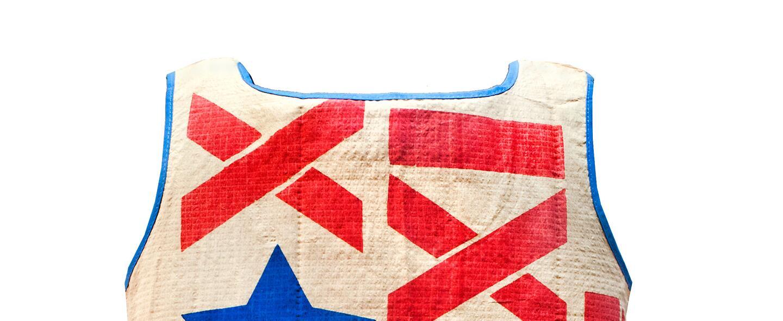 Un vestido de papel de la campaña de Richard Nixon en Carolina del Norte...