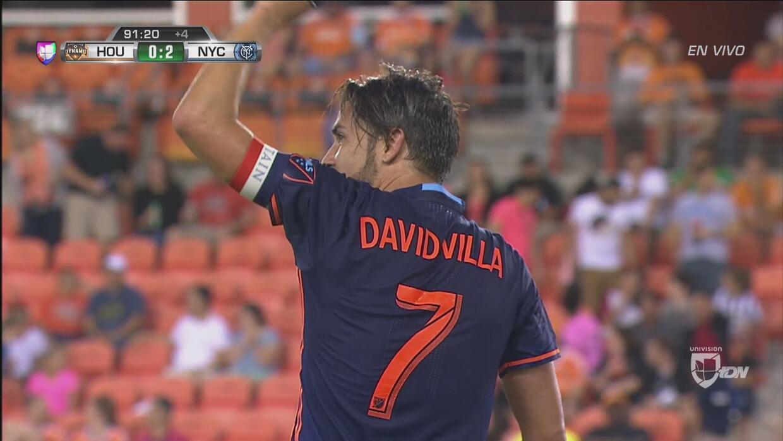 En un gran contrataque, David Villa puso el 2-0 de New York City