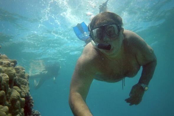 El Gordo estuvo buceando y nos compartió fotos debajo del agua.