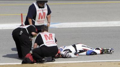 El lamentable accidente ocurrió durante la primera vuelta de una compete...