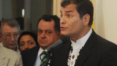 El presidente de Ecuador, Rafael Correa, aprovechó políticamente la rebe...