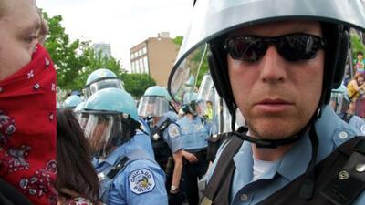 Protestas contra la OTAN en Chicago