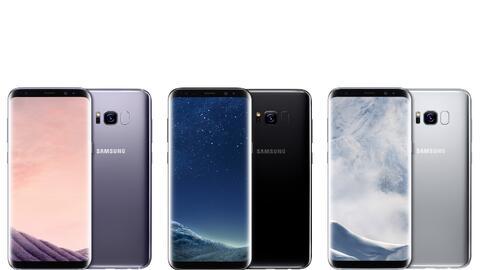 En negro, plata y gris, el Samsung S8 destaca por su diseño, en el que h...