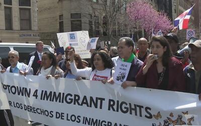 Las calles de Washington Heights fueron escenario de una marcha en recha...