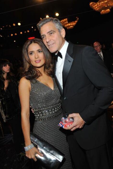 """Con George Clooney, su coestrella en """"From Dusk Till Dawn"""". Mira aquí má..."""