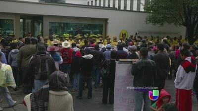 Protestas frente a embajada Alemana en México