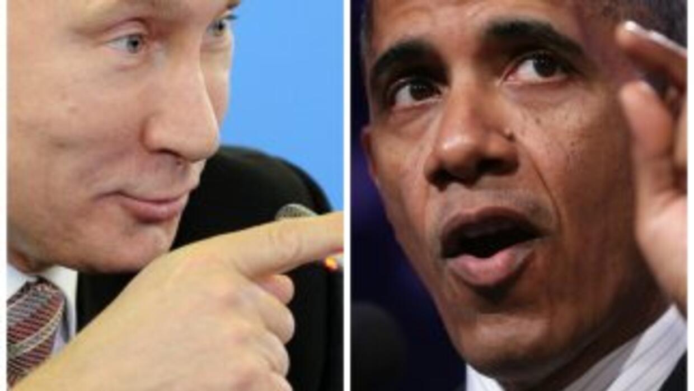 Enfrentados Vladimir Putin y Barack Obama