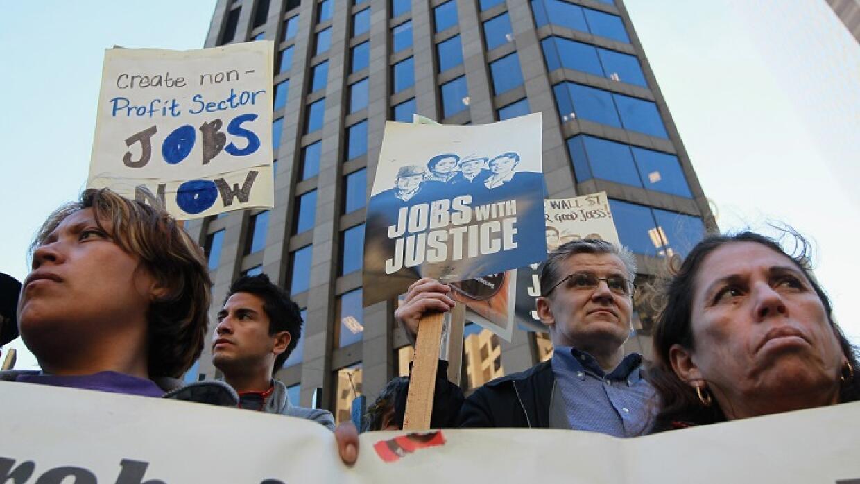 Manifestantes piden más empleo en California