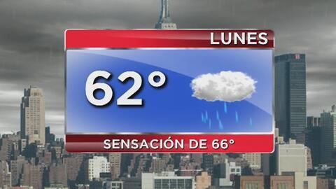 Cielo nublado, lluvias y temperaturas cálidas para este lunes en Nueva York