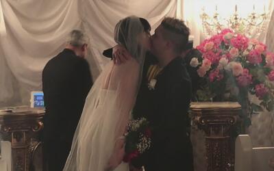 Osmani García sorprendió a su novia con una boda sorpresa, ¡qué emoción!