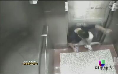 ¡Impactante! En video cómo un estudiante es aplastado por un elevador