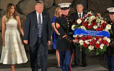 Donald Trump visitó el Museo del Holocausto en Israel
