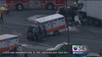 Robó ambulancia y causó accidente mortal