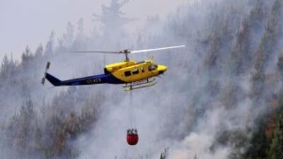 Para combatir los incendios luchan unos dos mil brigadistas, algunos de...